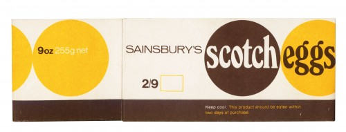 SA/PKC/PRO/1/5/2/1/30/1 - Sainsbury's Scotch Eggs packet, 1970