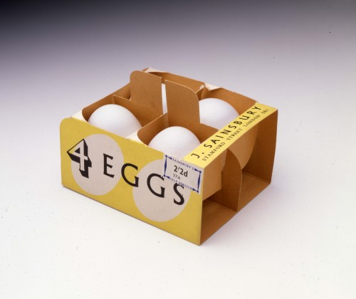 SA/PKC/PRO/1/8/4/1/1 - Photograph (transparency) of box of 4 eggs 1953