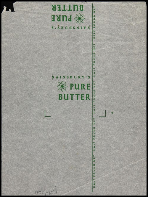SA/PKC/PRO/1/6/2/1/1/2/1 - Sainsbury's Pure Butter packaging