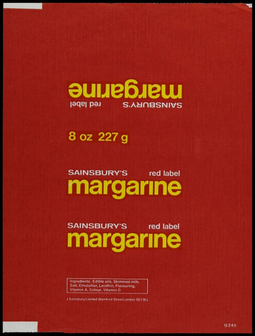 SA/PKC/PRO/1/6/2/1/3/3 - Sainsbury's red label margarine packaging