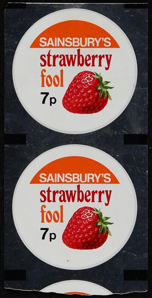 SA/PKC/PRO/1/6/2/4/1/11 - Sainsbury's strawberry fool packaging