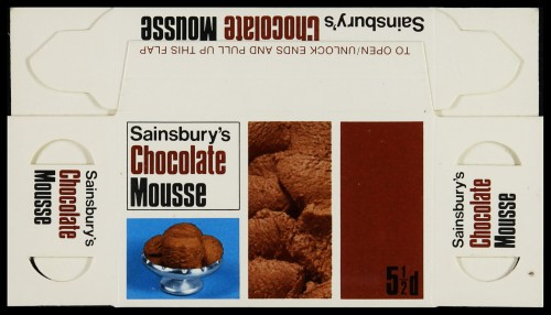 SA/PKC/PRO/1/6/2/4/1/15/1 - Sainsbury's Chocolate Mousse (5½d) packet