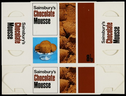 SA/PKC/PRO/1/6/2/4/1/15/2 - Sainsbury's Chocolate Mousse 11 fl oz packet, c. 1971