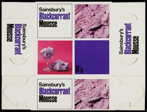 SA/PKC/PRO/1/6/2/4/1/25/2 - Sainsbury's Blackcurrant Mousse 11fl oz/312ml packet, 1972