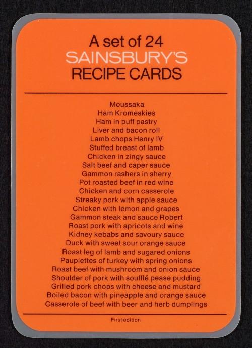 SA/PUB/1/36/1 - Recipe cards