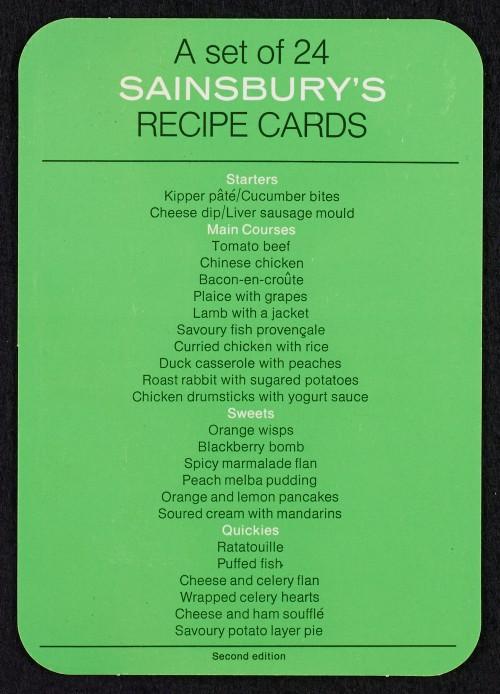 SA/PUB/1/36/2 - Recipe cards