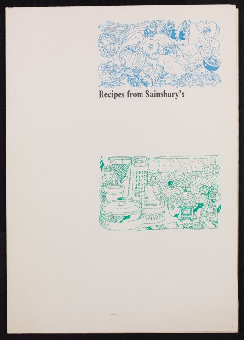SA/PUB/1/39 - 'Recipes from Sainsbury's' (recipe pack)