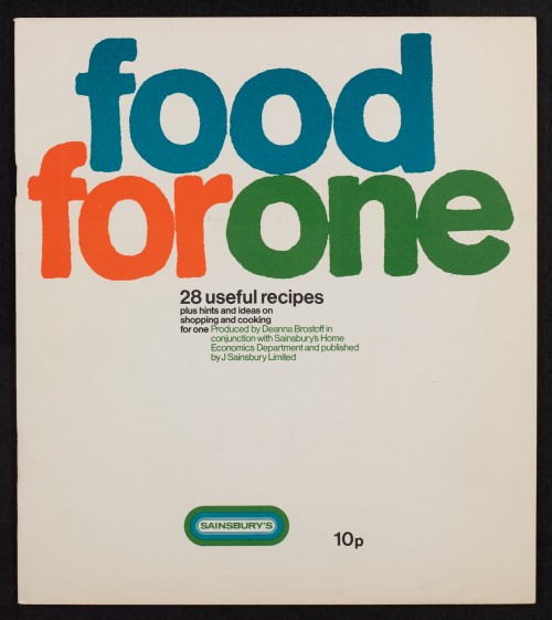 SA/PUB/1/3/1/1 - 'Food for one: 28 useful recipes plus hints and ideas on shopping and cooking for one' (cookery book)