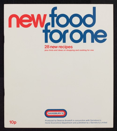 SA/PUB/1/3/1/2 - 'New food for one: 28 new recipes plus hints and ideas on shopping and cooking for one' (cookery book)