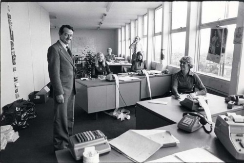 SA/REG/OFF/4/1/3 - Photograph of Norwich House, Streatham offices 1977 - office interior with staff