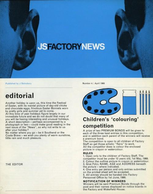 """SA/SC/5/1/4 - """"JS Factory News"""" Number 4, April 1966"""