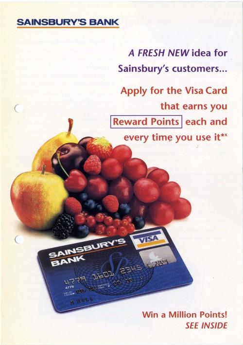"SA/SUB/BNK/2/1 - Sainsbury's Bank Visa Card brochure ""A fresh new idea for Sainsbury's customers…"""