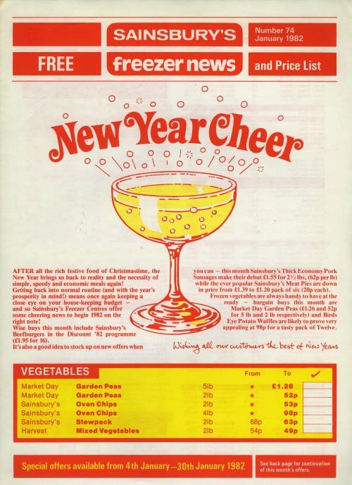 SA/SUB/FRE/2/80 - Sainsbury's Freezer News, Jan 1982