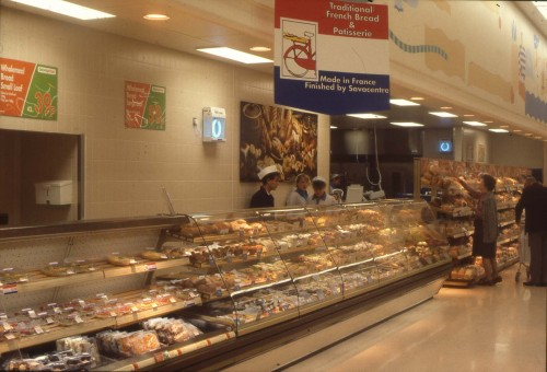 SA/SUB/SBHS/A-Z/L/IMA/1/2 - Slide photograph of London Colney Savacentre hypermarket (bakery counter)