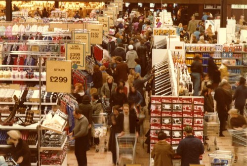 SA/SUB/SBHS/A-Z/W/IMA/1/4 - Photograph of interior of Washington Savacentre: clothing and other non-food products