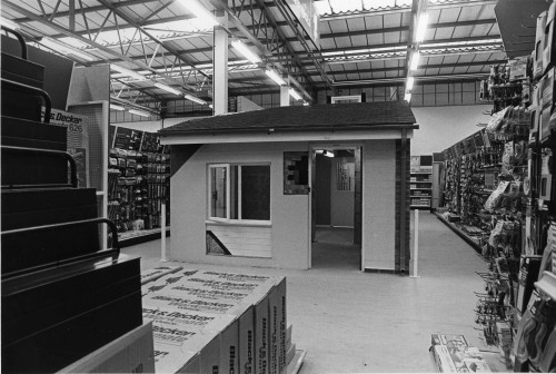 SA/SUB/SGB/A-Z/C/IMA/8/4 - Photograph of Croydon Homebase c.1981 (interior: power tool section with model house)