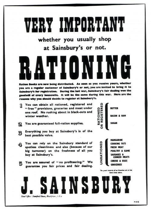 SA/WAR/2/IMA/1/7 - Image of 'Very Important' rationing notice