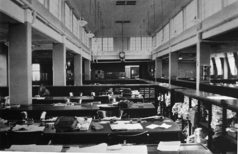 SA/BL/IMA/4/2 - Photograph of 4th Floor Offices Stamford House c.1935 (without personnel)