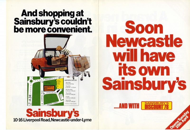 SA/BR/22/N/6/2/1 - Newcastle-under-Lyme [Liverpool Road] store opening booklet, 1978
