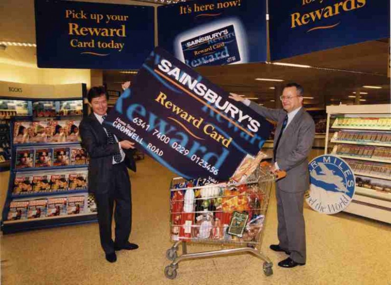 SA/BRA/5/4/4/1 - Photograph of David Sainsbury launching Reward Card at Cromwell Road store, London