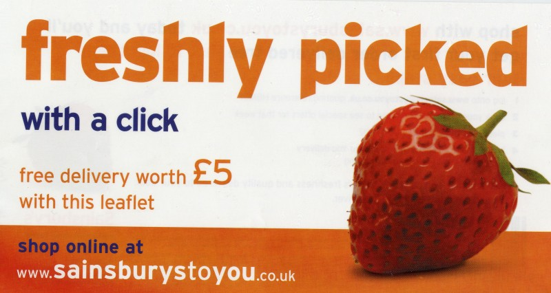 SA/BRA/5/5/3/6 - 'Freshly picked with a click' (Sainsbury's to You) leaflet