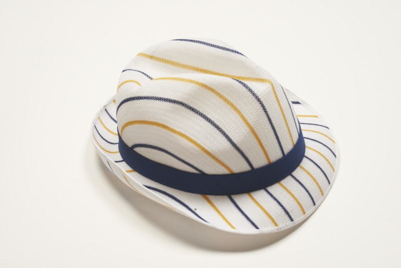 d511d2ce4 Staff mesh trilby hat (white with orange and blue stripes) | SA/BRA ...