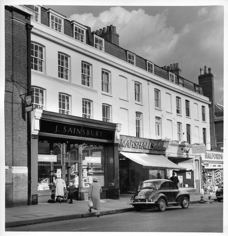SA/BRA/7/A/11/1/2 - Photograph of 18 High Street, Ashford store, 1961 (exterior)