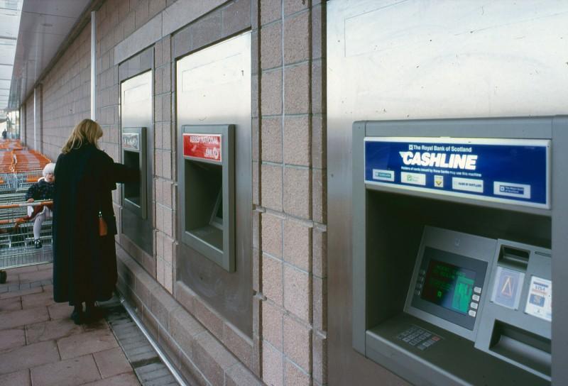 SA/BRA/7/A/1/42 - Image of cash machines at Garthdee Road, Aberdeen branch