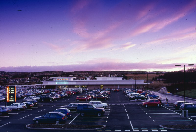 SA/BRA/7/A/1/50 - Image of the exterior and carpark of Garthdee Road, Aberdeen branch