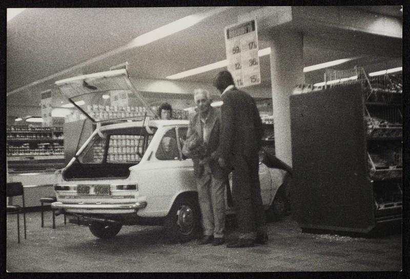 SA/BRA/7/B/20/5/4/1 - Image of Birmingham: Kings Heath (38-54 Alcester Road) branch: crashed car in store