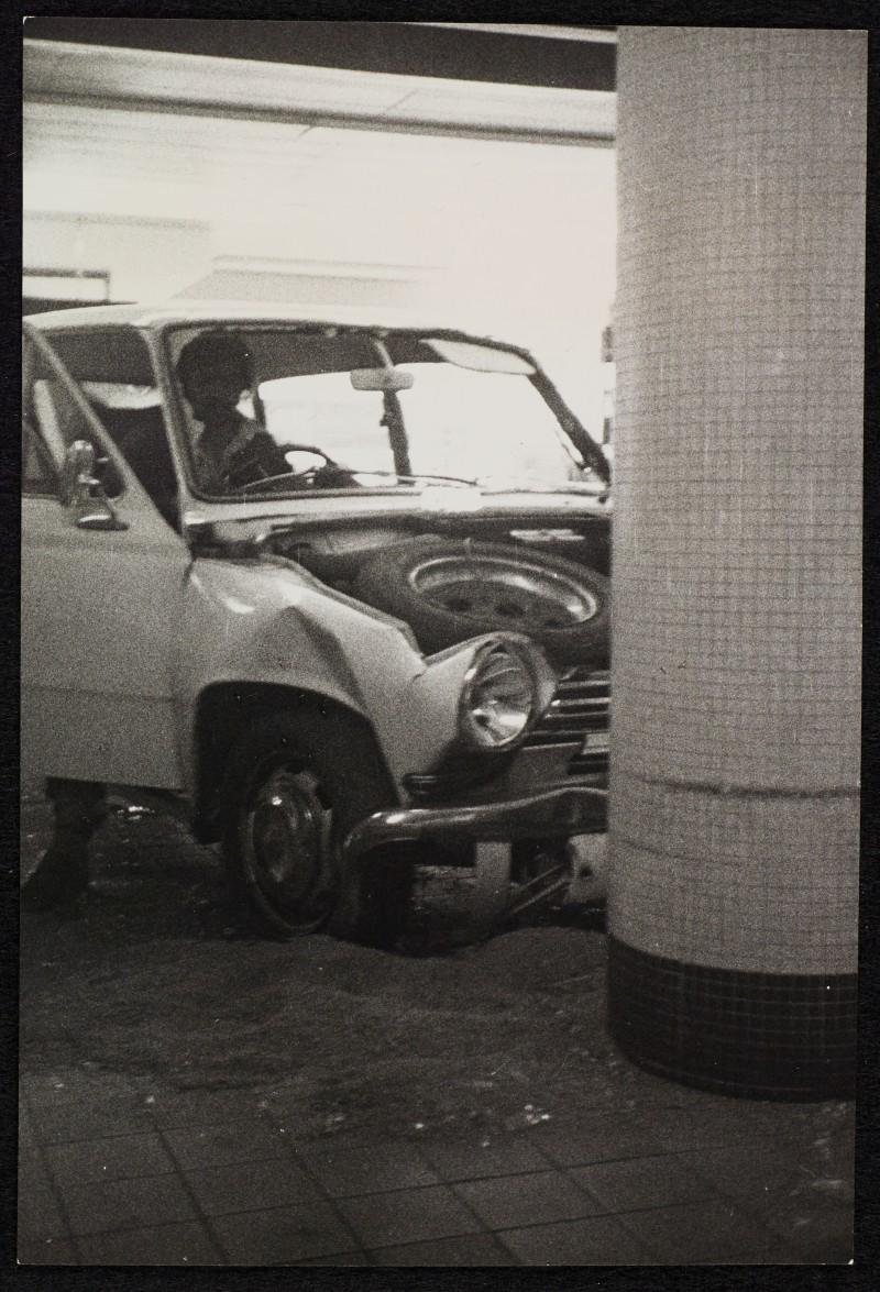 SA/BRA/7/B/20/5/4/2 - Image of Birmingham: Kings Heath (38-54 Alcester Road) branch: crashed car in store