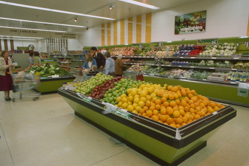 SA/BRA/7/B/21/2/57 - Image of the fresh produce department at Thorley Centre, Bishop's Stortford branch