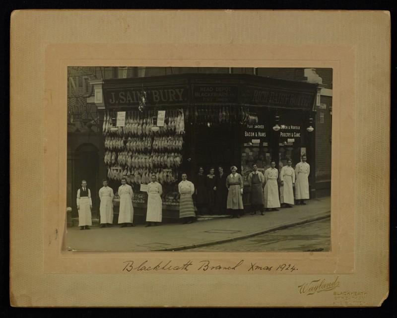 SA/BRA/7/B/24/5 - Image of staff outside 13 Blackheath Village, Blackheath branch