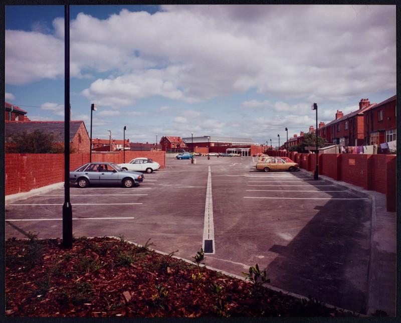 SA/BRA/7/B/25/5 - Image of the car park at Red Bank Road, Blackpool branch