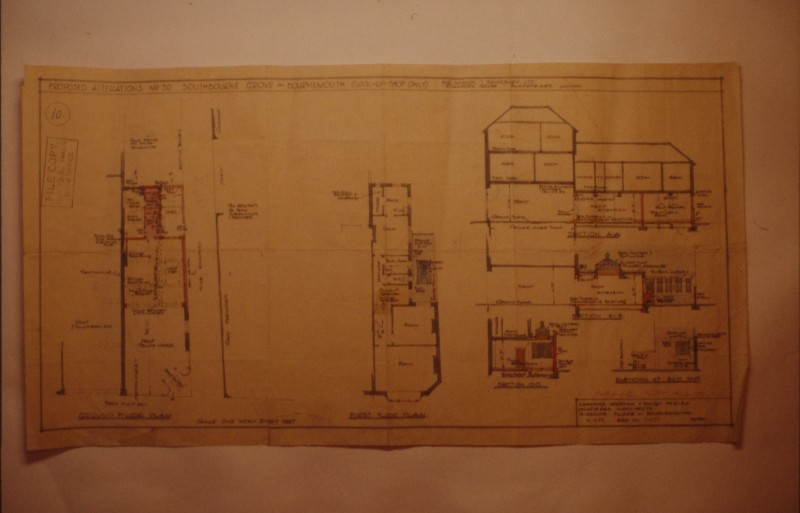 SA/BRA/7/B/31/4/4 - Image of building plan for Southbourne (28/30 Southbourne Grove) branch
