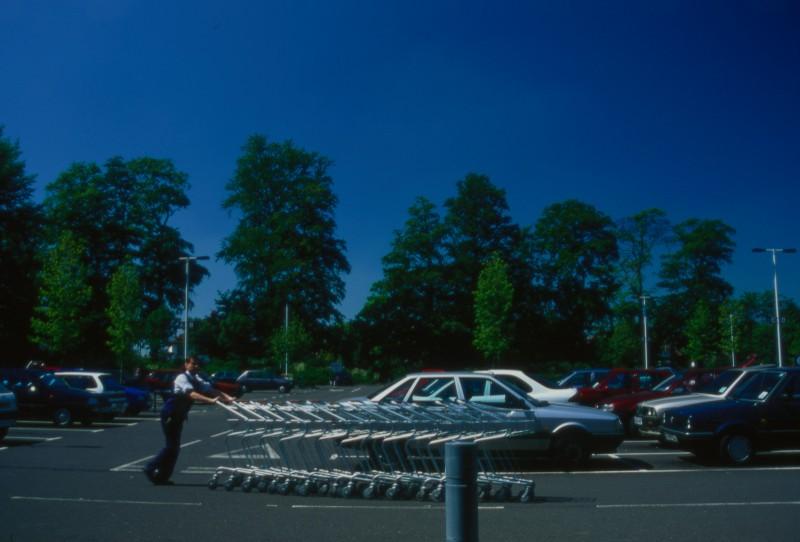 SA/BRA/7/B/46/2/36 - Image of the car park at Oxford Road, Banbury branch