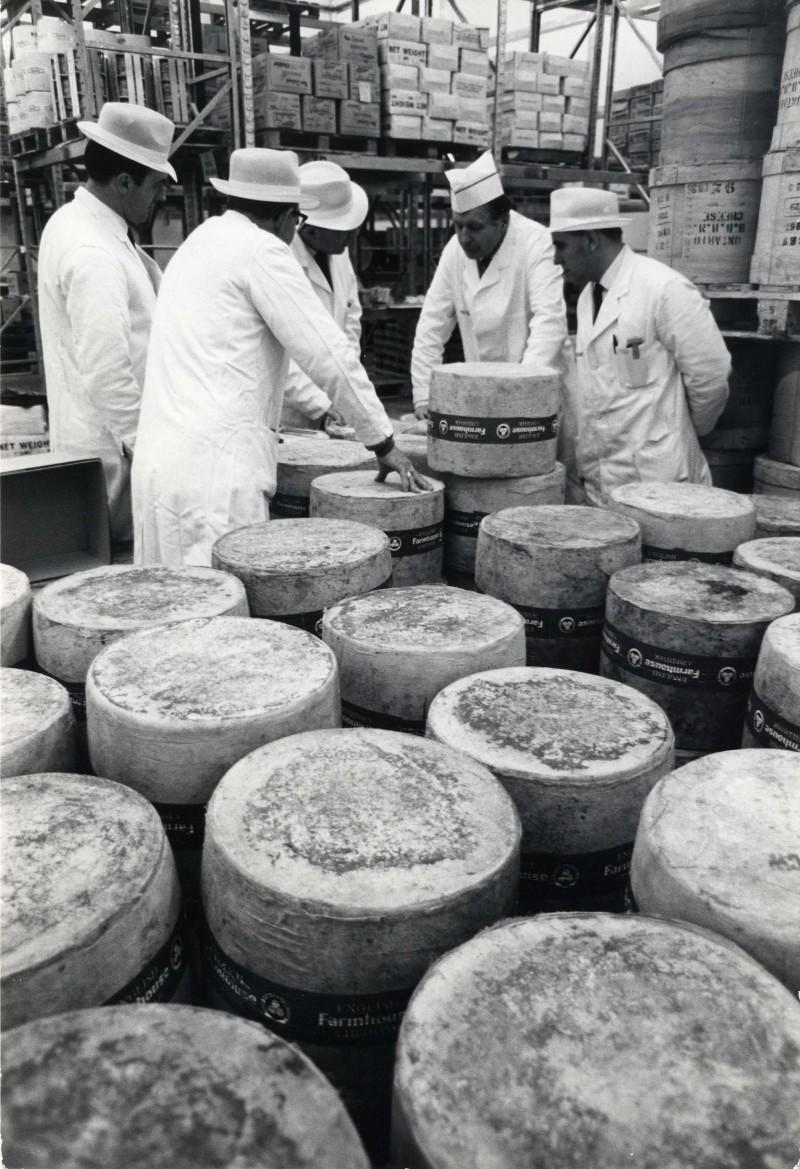 SA/DEP/4/6/12 - Photograph of Charlton Depot - men examining cheese