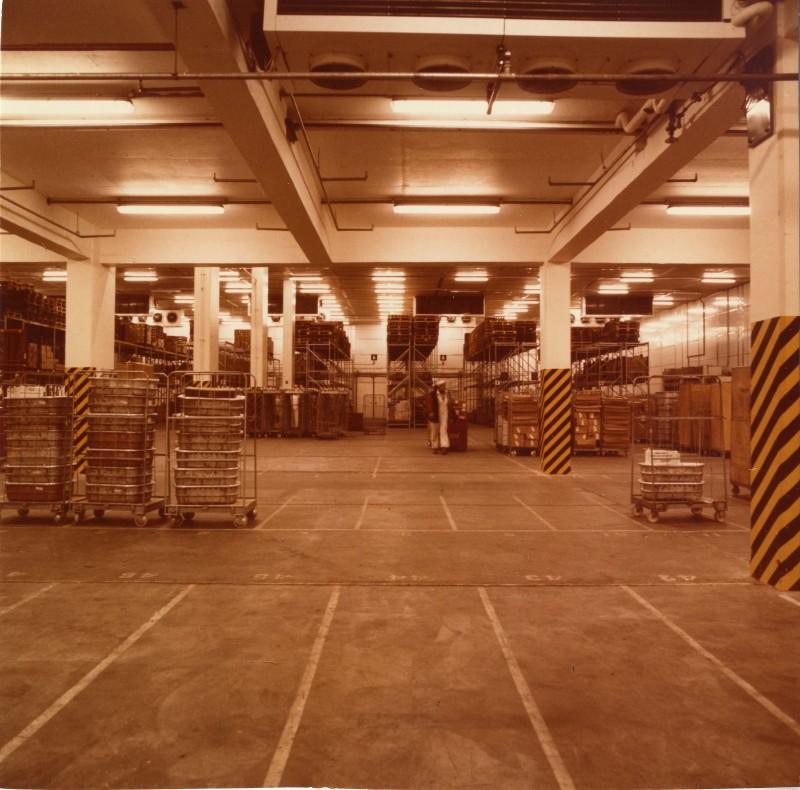 SA/DEP/4/6/1 - Photograph of interior of warehouse, Charlton depot