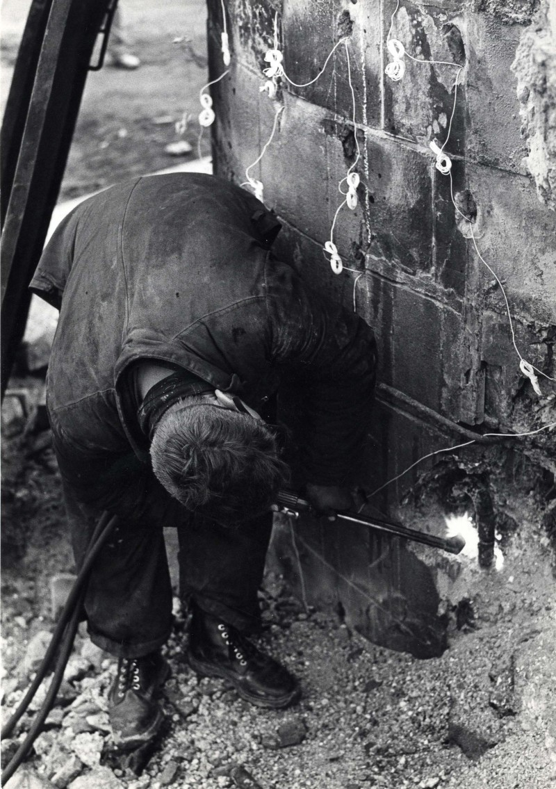 SA/DEP/4/6/24 - Photograph of Charlton Depot - man welding