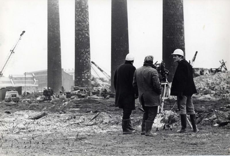 SA/DEP/4/6/25 - Photograph of film crew at Charlton Depot site