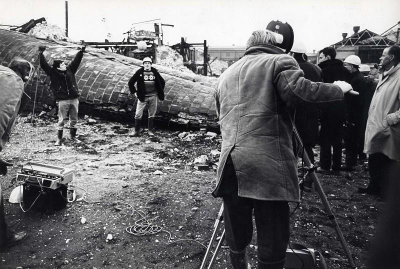 SA/DEP/4/6/26 - Photograph of film crew at Charlton Depot site