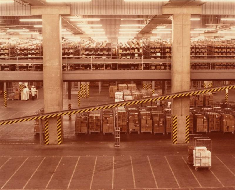 SA/DEP/4/6/2 - Photograph of interior of warehouse, Charlton depot