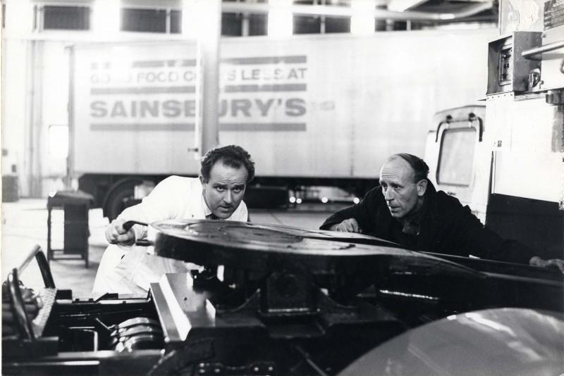 SA/DEP/4/6/30 - Photograph of P. Park, Depot Motor Engineer and fitter, J. King, Charlton Depot, 1967