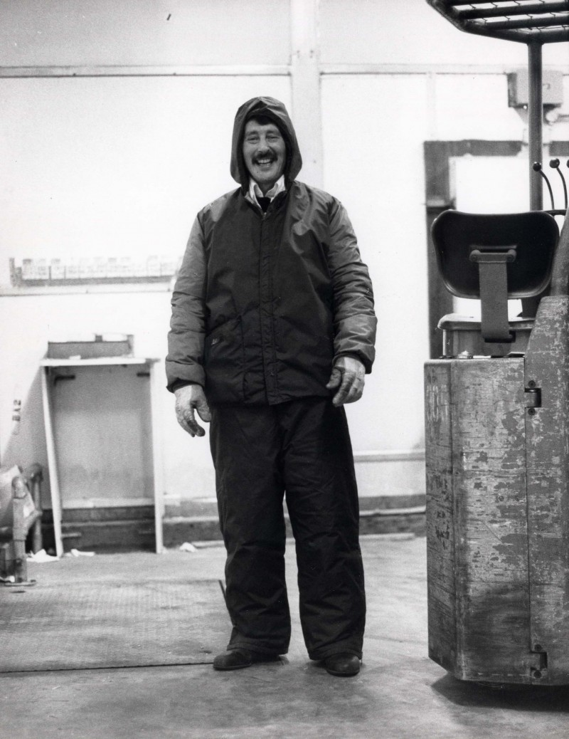SA/DEP/4/6/40 - Photograph of Charlton Depot, 1977 - cold store chargehand Harry Cousins