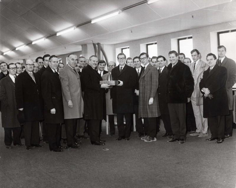 SA/DEP/4/6/4 - Photograph of presentation at opening of Charlton depot, 1970