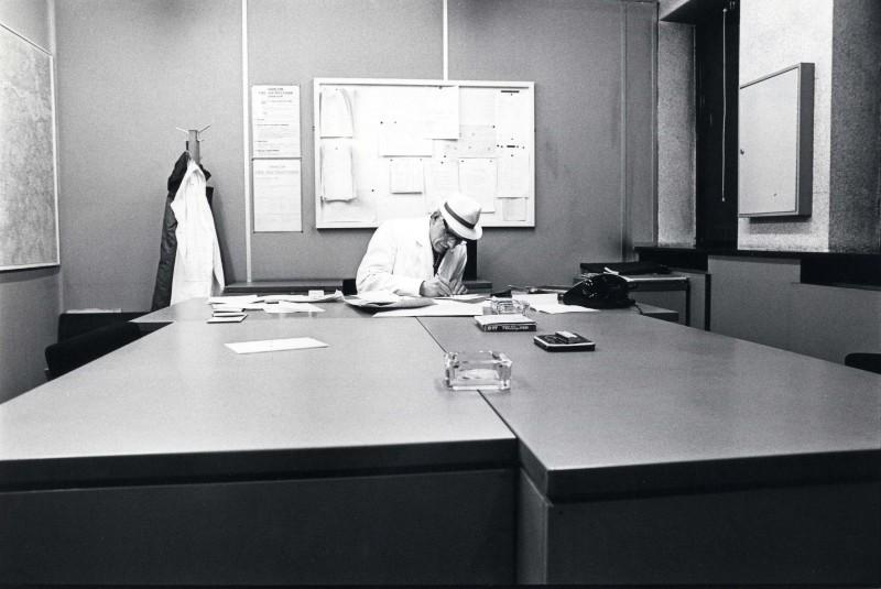 SA/DEP/4/6/52 - Photograph of Charlton Depot, 1977 - Night Manager Sam Goddard