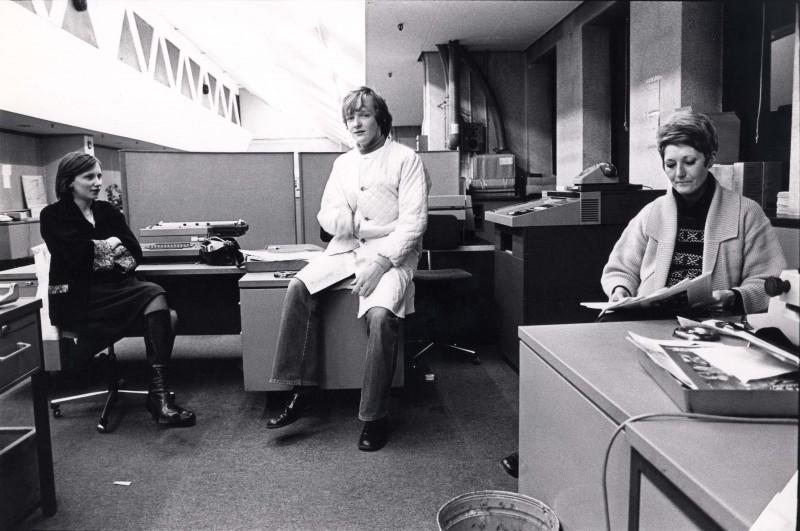 SA/DEP/4/6/6 - Photograph of staff in office at Charlton Depot