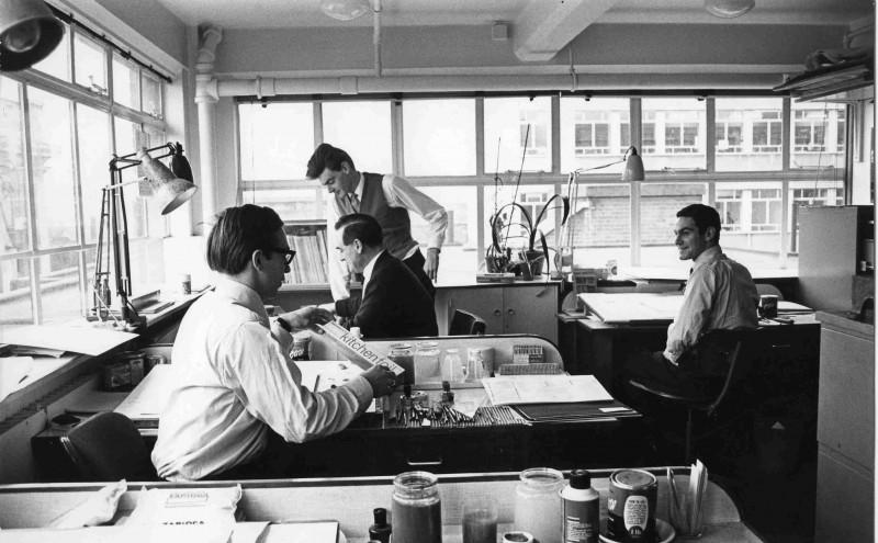 SA/DES/34/2 - Photograph of Sainsbury's Design Studio staff in studio