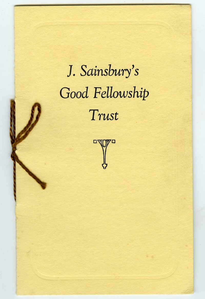 SA/EMP/11/4 - J. Sainsbury's Good Fellowship Trust booklet
