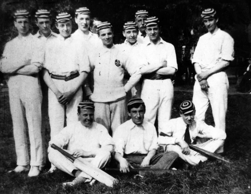 SA/EMP/SOC/3/IMA/3/4 - Photograph of the Stamford House Cricket Club, c.1919